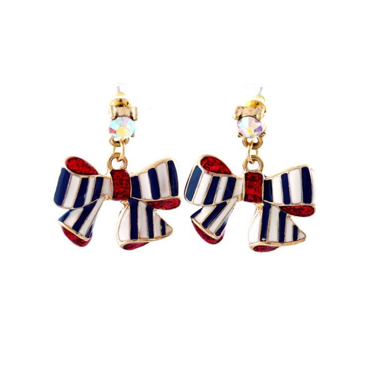 Gold Bow-Knot Earrings VGA07003