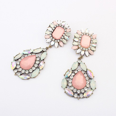 Mix Color Stone Earrings VGA07011