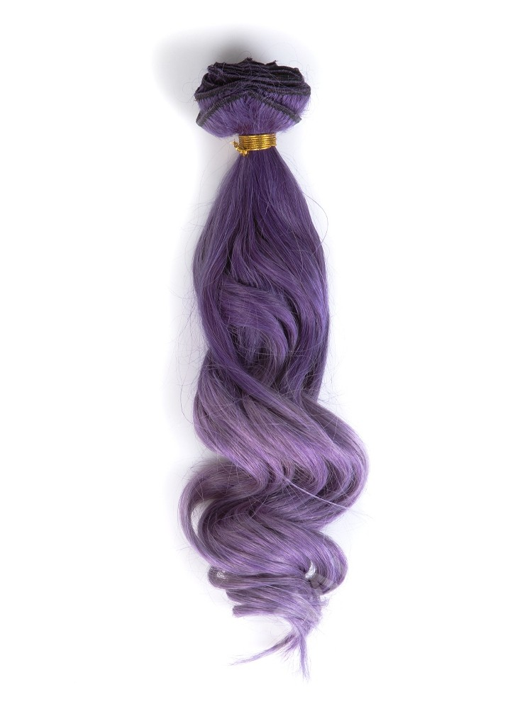 Indian Remy Clip In Purple To Cool Lilac Ombre Hair Extensions VGE09009