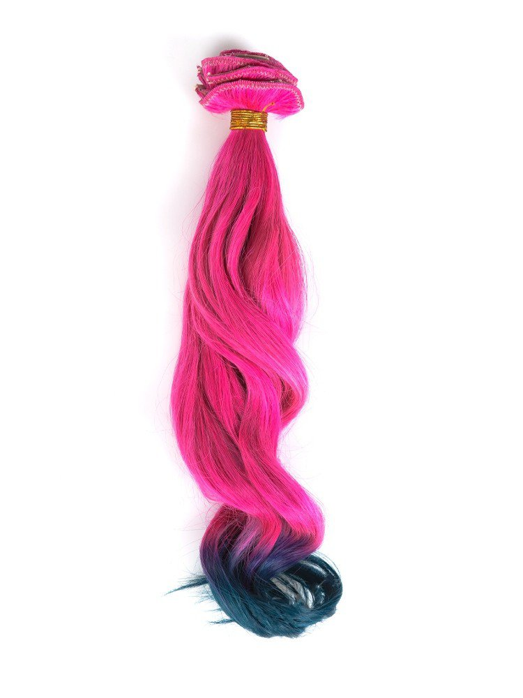 Clip In Cerise To Emerald Ombre Colorful Hair Extensions VGE09017