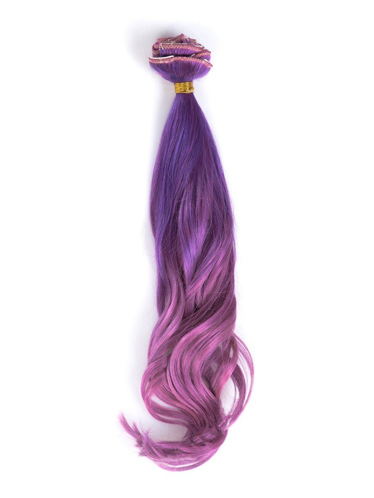 Clip In Purple To Fuchsia Colorful Hair Extensions VGE09019