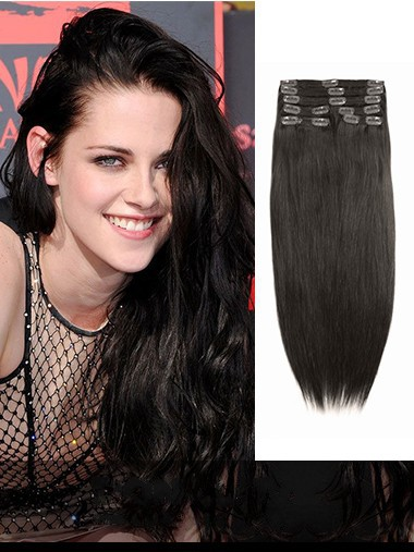 Indian Remy Darkest Brown Clip In Top Hair Extensions VGE10004