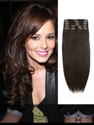 Medium Reddish Brown Clip In Hair Extensions VGE10008