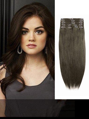 Indian Remy Chestnut Brown Clip In Hair Extensions VGE10010