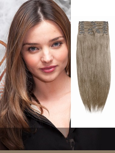 Indian Remy Medium Golden Brown Clip In Hair Extensions VGE10015