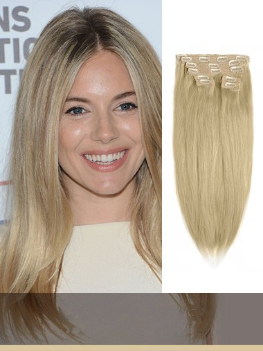 Light Golden Brown Clip In Hair Extensions VGE10016