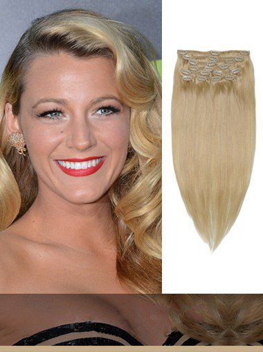 Indian Remy Light Ash Blonde Clip In Hair Extensions VGE10017