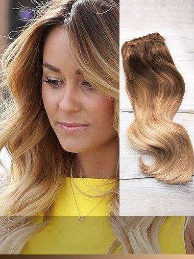 Indian Remy Brown To Blonde Ombre Clip In Hair Extensions VGE11001