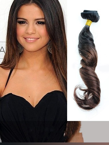 Indian Remy Black To Brown Ombre Clip In Hair Extensions VGE11005