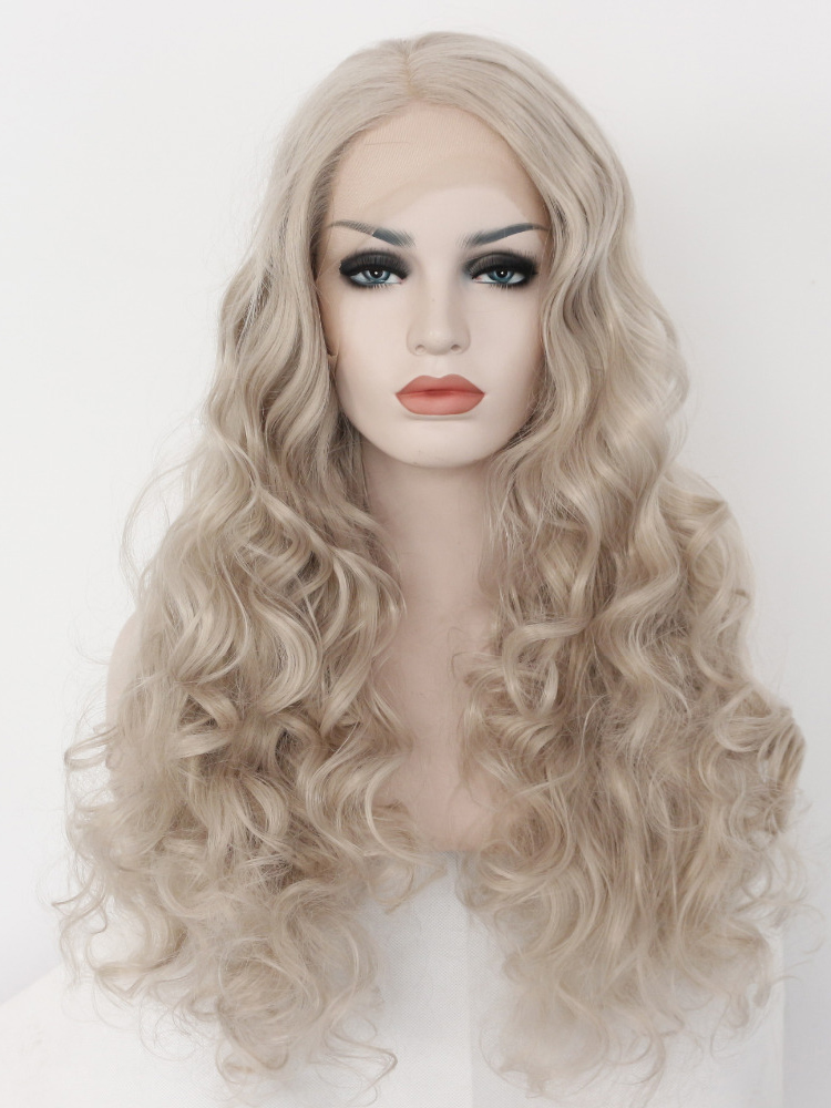 "Light Blonde 24"" Synthetic Wigs Lace Front Wigs VGW05002"
