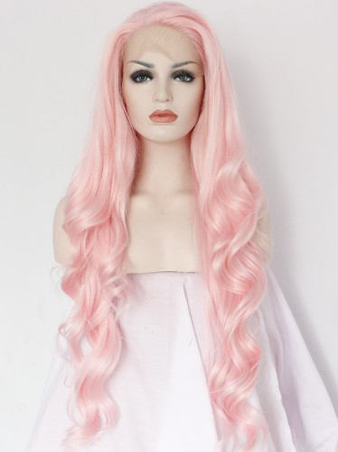 "Peach 22"" Synthetic Wigs Lace Front Wigs VGW05008"