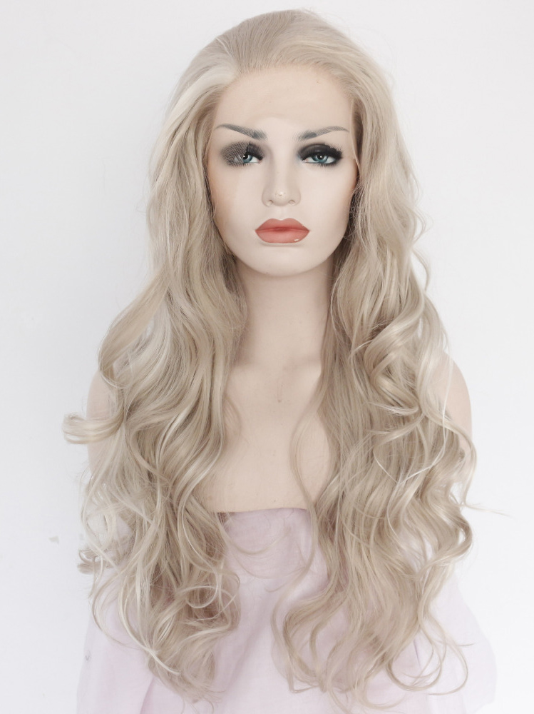 """Blonde 16"""" Synthetic Wigs Lace Front Wigs VGW05012"""