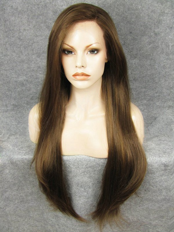 "Brown 24"" Synthetic Wigs Lace Front Wigs VGW05021"