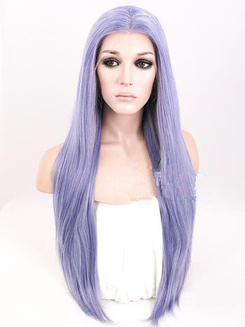 "Long Straight Cool Lilac 26"" Lace Front Wigs VGW05026"