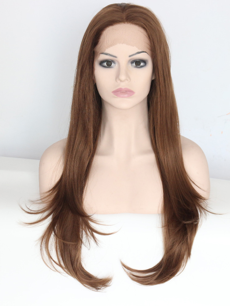 "Long Straight Auburn 26"" Lace Front Wigs VGW05053"