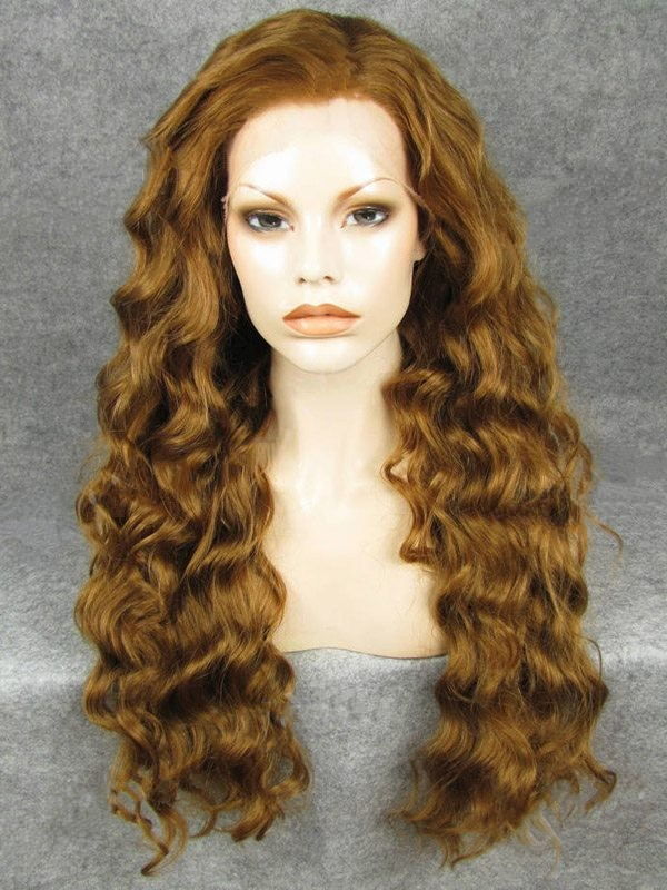 "Long Curly Peanut 26"" Lace Front Wigs VGW05061"