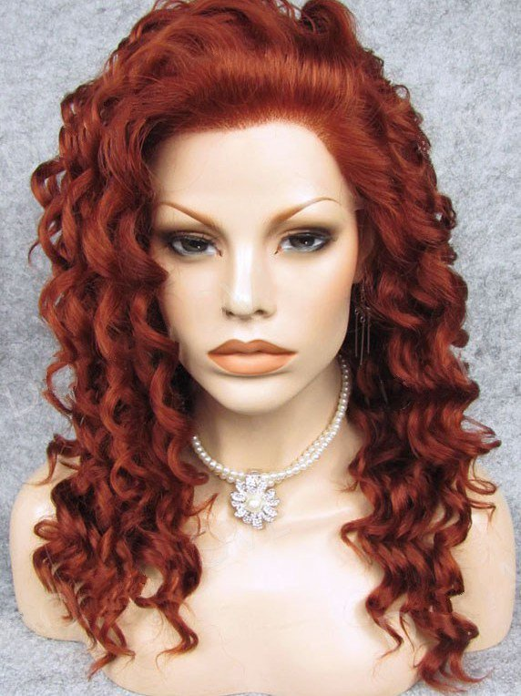 "Long Curly Ruby 20"" Lace Front Wigs VGW05062"