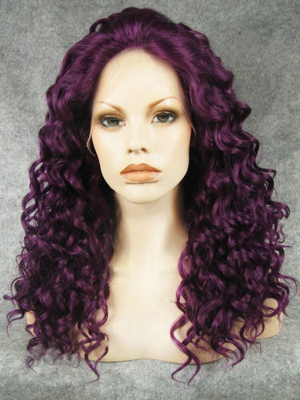 "20"" Regency Curly Lace Front Synthetic Wigs Wigs VGW05065"