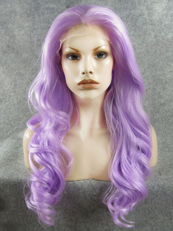 "26"" Orchid Wavy Lace Front Synthetic Wigs Wigs VGW05077"