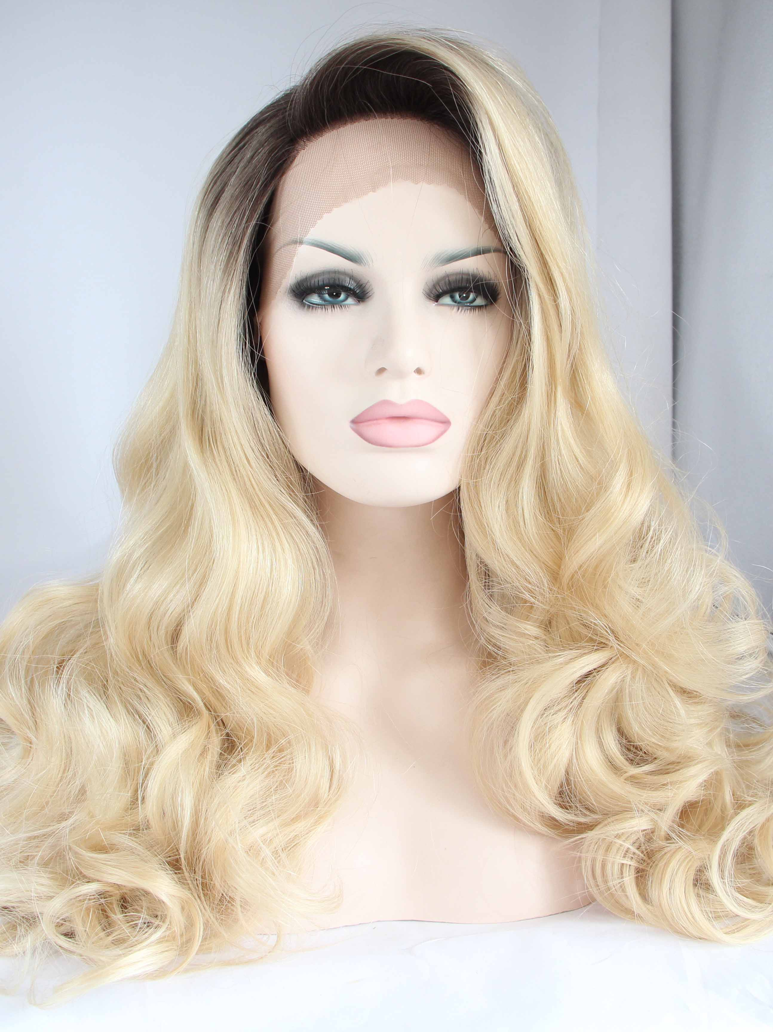 Black To Light Blonde Lace Front Fashion Wigs