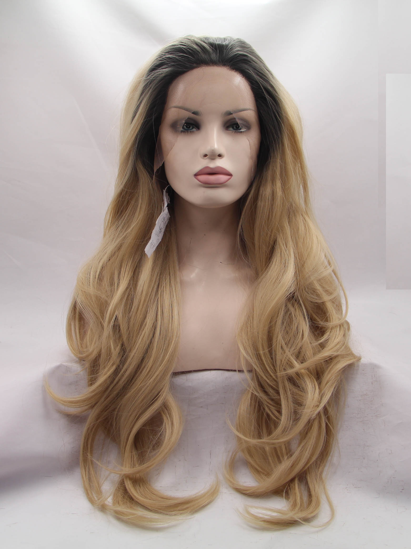 Black To Blonde Lace Front Colored Hair