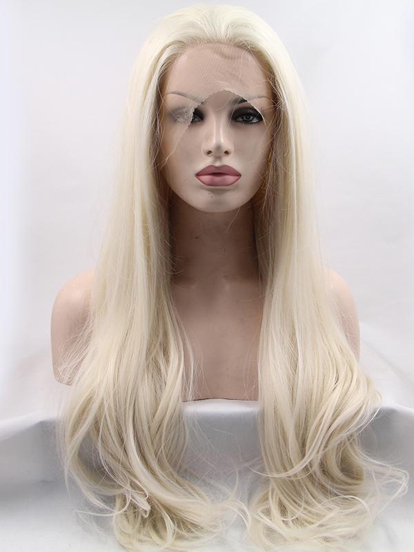 "Platinum 24"" Wavy New Hair Wigs"