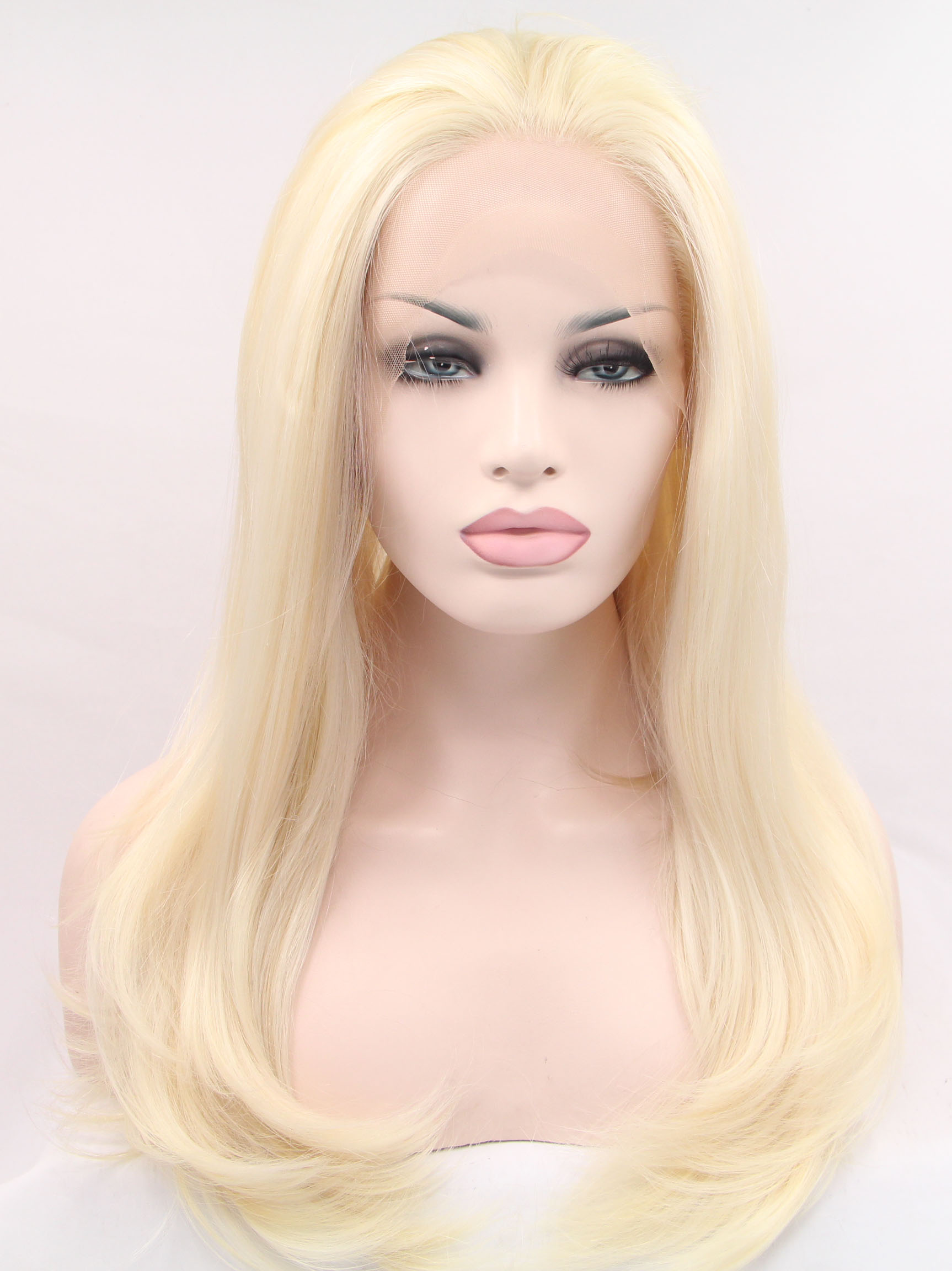 "Blonde 24"" Straight Synthetic Wigs Sale"