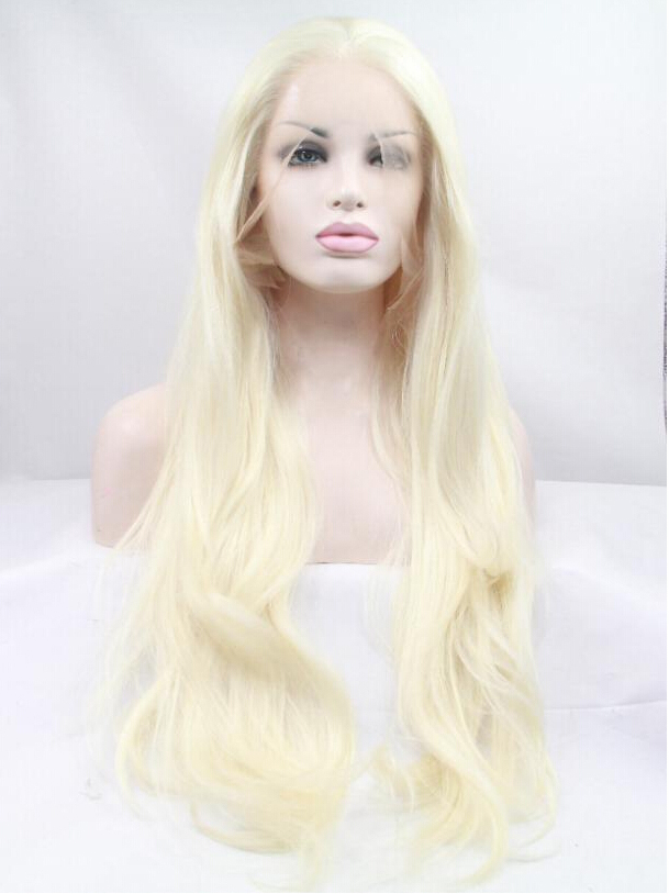 "Blonde 24"" Synthetic Wigs Lace Front Wigs VGW05102"