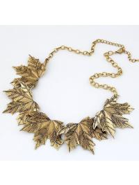 Chain Gold Leaf Necklace VGA07002