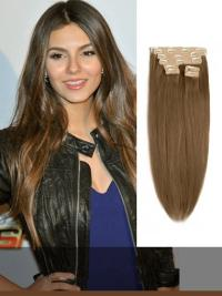 Indian Remy Light Brown Clip In Hair Extensions VGE10005
