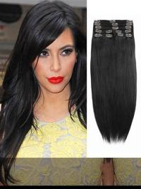 Indian Remy Off Black Clip In Hair Extensions VGE10006