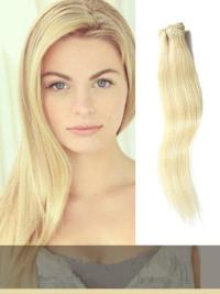 Pale Golden Blonde Clip In Hair Extensions VGE10007