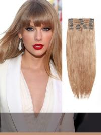 Indian Remy Light Ash Brown Clip In Hair Extensions VGE10011