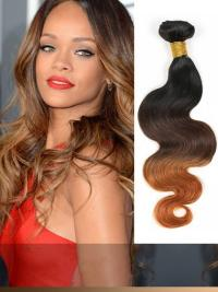 Indian Remy Black To Brown Ombre Clip In Hair Extensions VGE11010