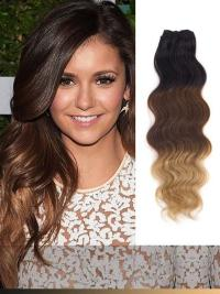 Indian Remy Black To Blonde Ombre Clip In Hair Extensions VGE11013