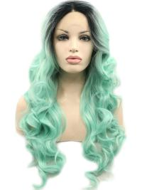 "Mint 26"" Synthetic Wigs Lace Front Wigs VGW05006"