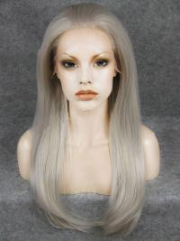 "Silver 18"" Synthetic Wigs Lace Front Wigs VGW05007"