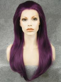 "Purple 20"" Synthetic Wigs Lace Front Wigs VGW05009"