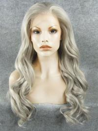 "Silver 26"" Synthetic Wigs Lace Front Wigs VGW05010"