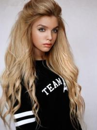 "22"" Blonde Lace Front Wigs VGW06002"
