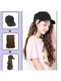 "24"" Synthetic Hair Hat and Wig for Cosplay Long Straight Wig High Temperature Fiber"