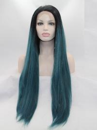 Black To Emerald Wigs For Ladies