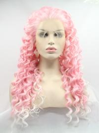"Baby Pink 16"" Synthetic Wigs Lace Front Wigs VGW05011"